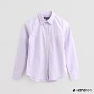 Hang Ten -女裝 - 簡約純色長袖襯衫 - 紫