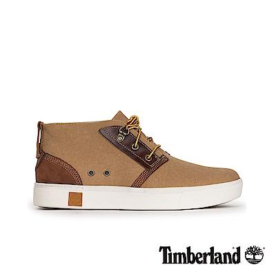 Timberland 男款棕色綁帶休閒鞋|A17OK