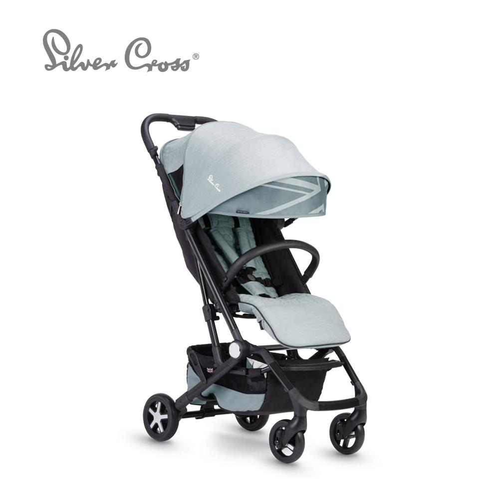Silver Cross Wing 輕量秒收 可登機 可平躺 嬰兒手推車 0m+(星雨藍)