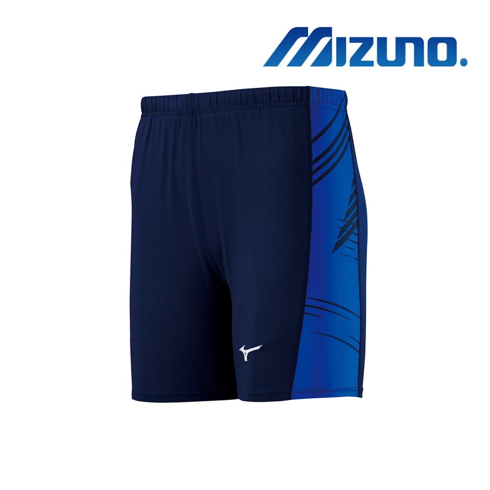 MIZUNO 緊身褲(短型) 深丈青 U2TB9G0114