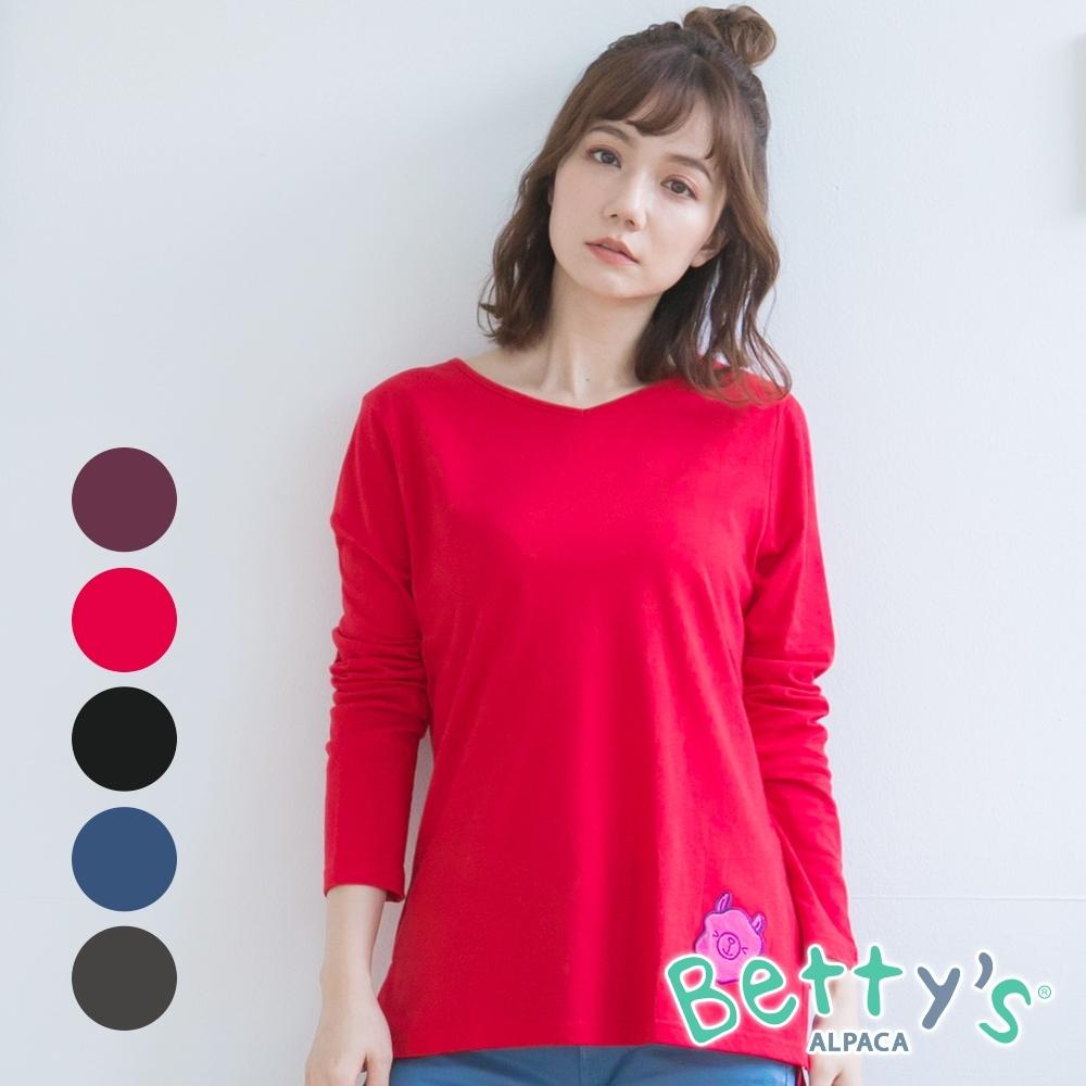 [時時樂限定]betty's 小V領貝羊舒適上衣(共5色)