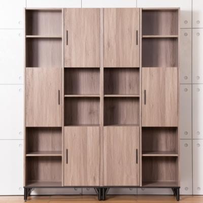 D&T 德泰傢俱 BROOK淺胡桃木5.4尺書櫃 (160x40x200cm)