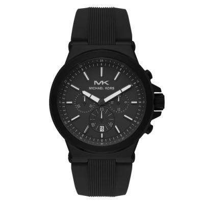 Michael Kors 都會型男三眼計時手錶-黑(MK8729)/45mm