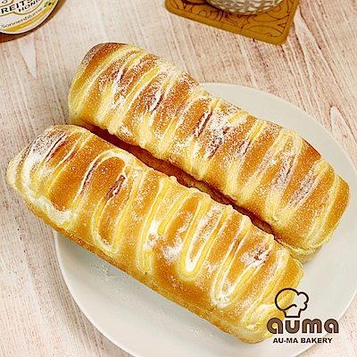(滿699)奧瑪烘焙 PAN柴奶露麵包原味X2入