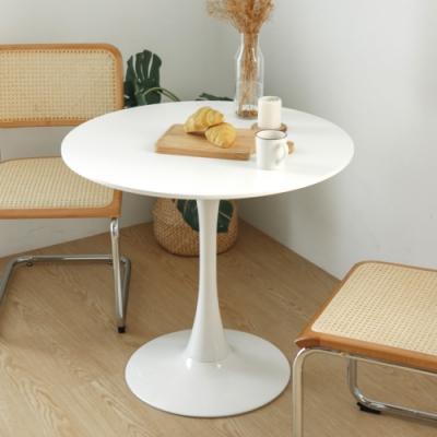 完美主義 簡約純白圓形大茶几/餐桌/圓桌/咖啡桌/茶几桌-80x80