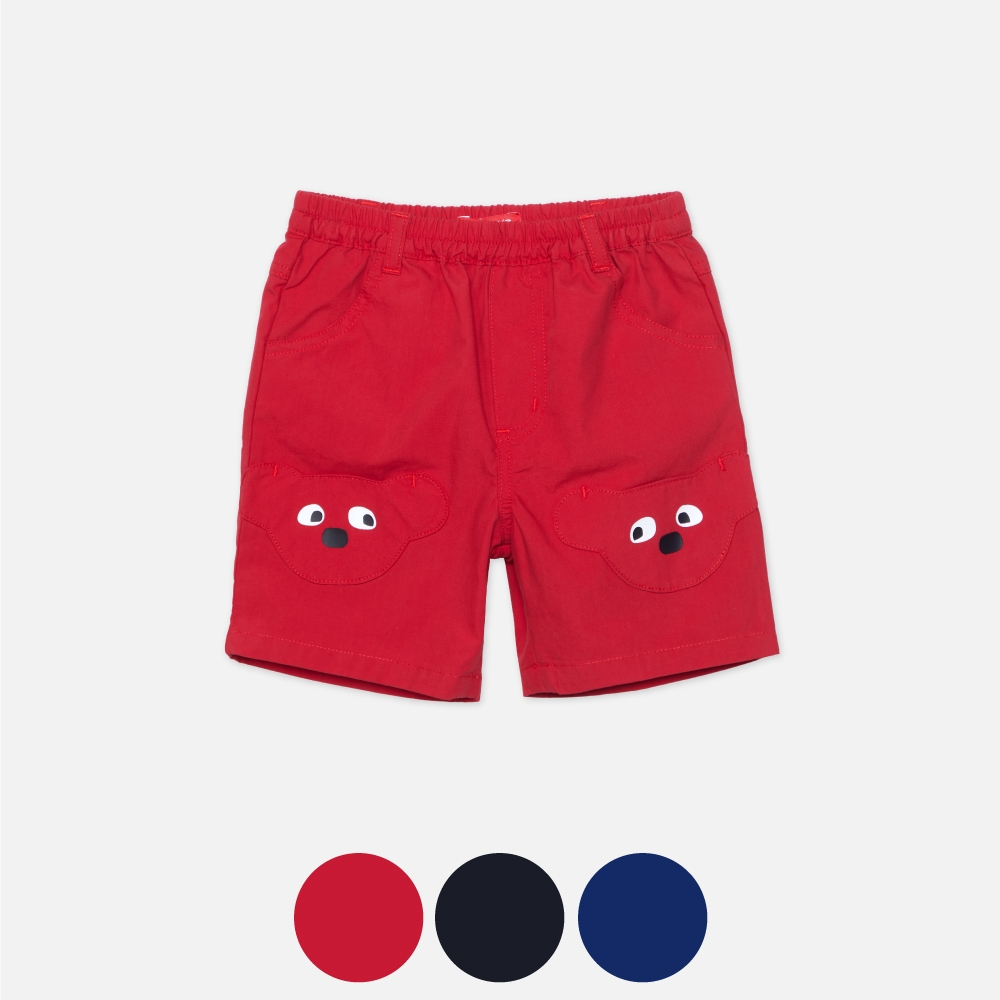 WHY AND 1/2 mini 棉質平織短褲 多色可選 1Y ~ 4Y (紅色)