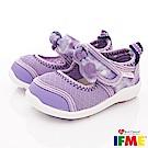 IFME健康機能鞋 蝴蝶結排水款 NI00602紫(寶寶段)