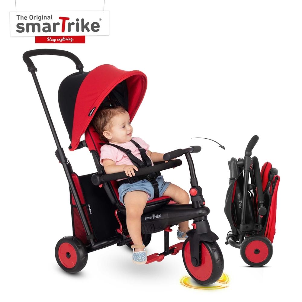 英國《smarTrike》STR3 折疊避震三輪車/紅