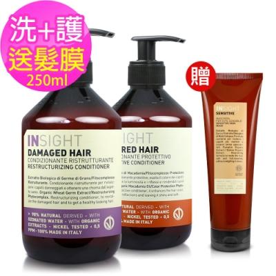 INSIGHT茵色 洗護髮超值組(400mlX2入)-送短效250ml髮膜