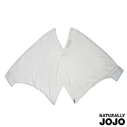 【NATURALLY JOJO】純色蝙蝠袖短版外罩(白)
