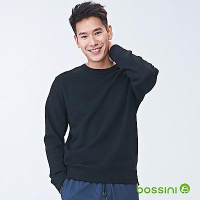bossini男裝-圓領厚棉T恤01黑