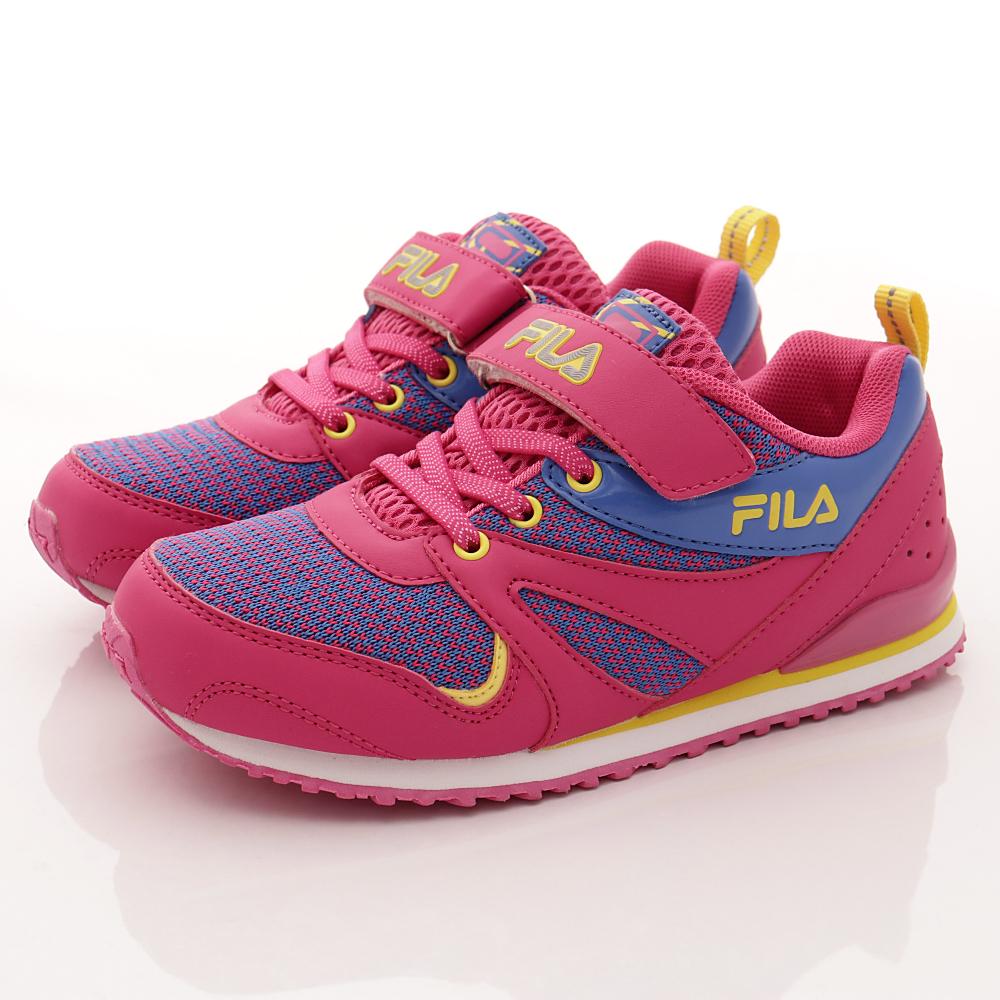 零碼-20cm FILA頂級童鞋 彈力針織運動款 828R-239桃藍