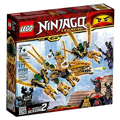 【LEGO樂高】NINJAGO忍者系列 70666 黃金龍
