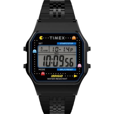 TIMEX 天美時 Pac-Man 小精靈電子錶- 黑/34mm