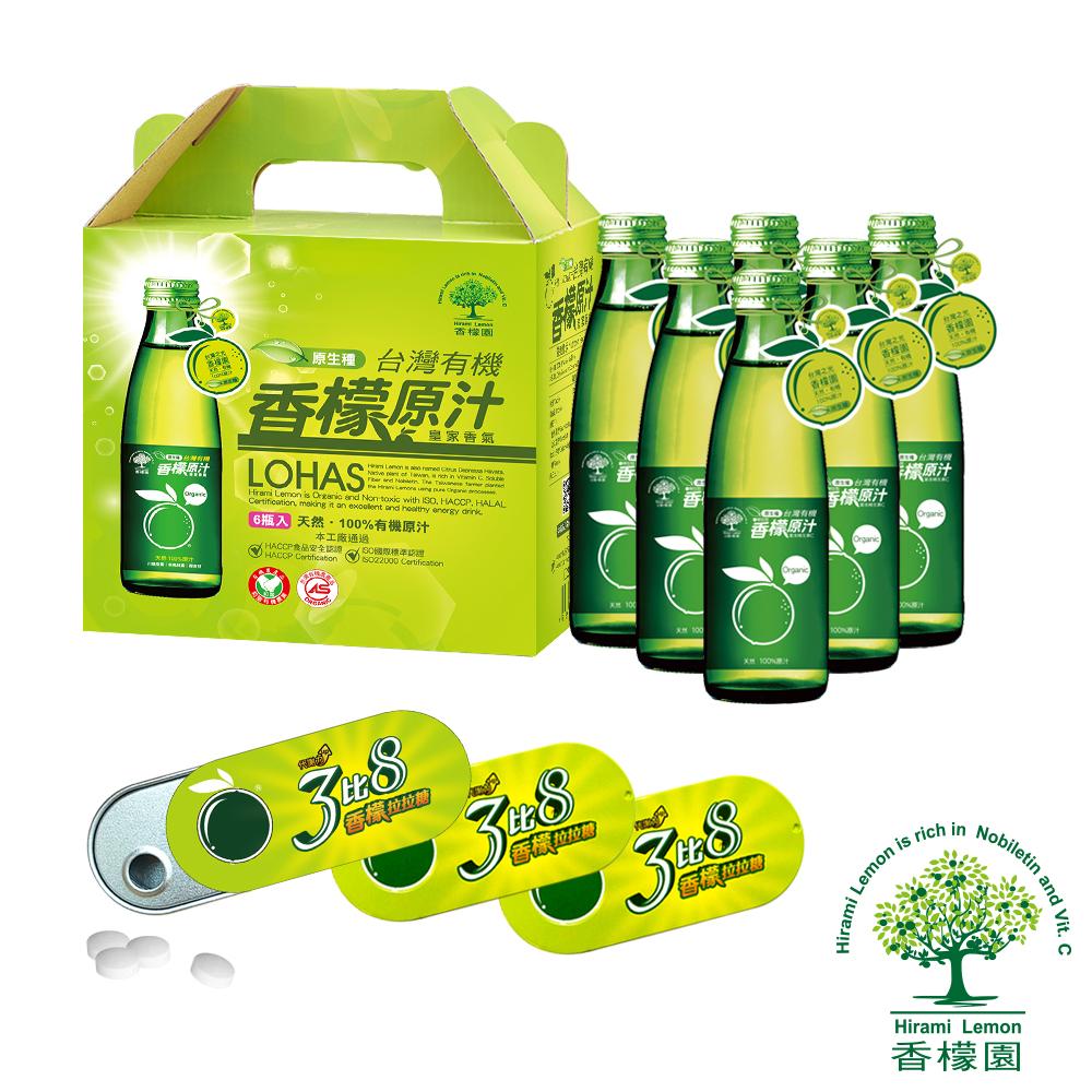 【香檬園】台灣原生種有機香檬原汁6入+香檬3比8拉拉糖x3盒 @ Y!購物