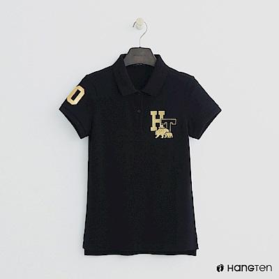 Hang Ten - 女裝 -logo刺繡POLO杉-黑