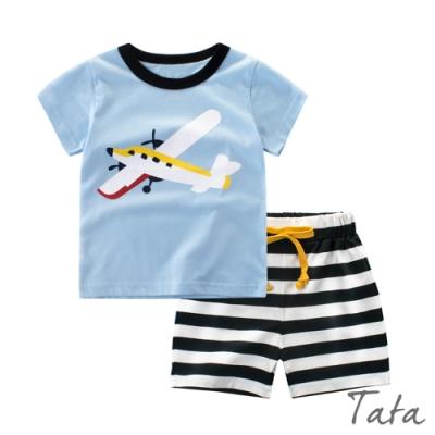 兒童 飛機印花條紋套裝 TATA KIDS