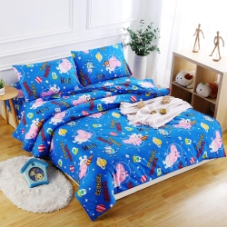 Peppa Pig  太空喬治  親膚舒柔單人床包枕套兩件組
