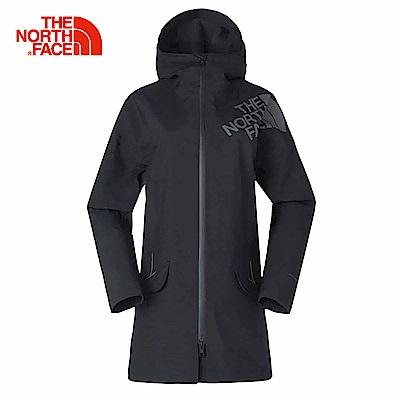 TheNorthFace北面女款黑色透氣戶外防水防風衝鋒衣 | 3GJEJK3