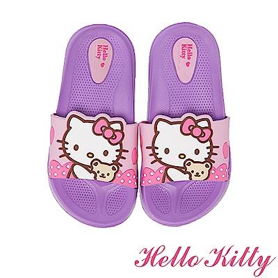 (雙11)HelloKitty 輕量減壓室內外休閒拖鞋童鞋-紫