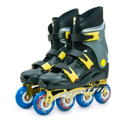 DLD多輪多 鋁合金底座 專業競速直排輪 溜冰鞋 鐵灰銀 FS-1 附贈太空背包