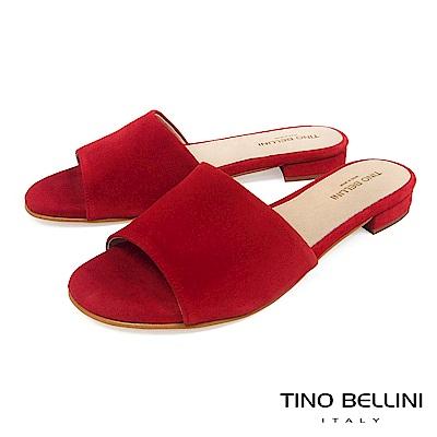 Tino Bellini 西班牙進口極簡自然風平底涼拖鞋 _ 紅