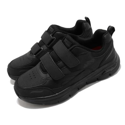 Skechers 休閒鞋 Arch Fit SR-Xantic 男鞋 專利鞋墊 回彈 避震 郊遊 健走 黑 200036BLK