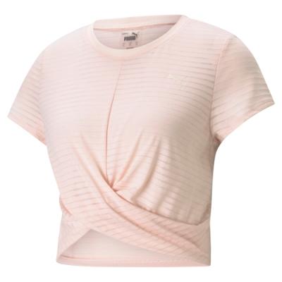 【PUMA官方旗艦】瑜珈系列Studio扭結短版短袖T恤 女性 52022827