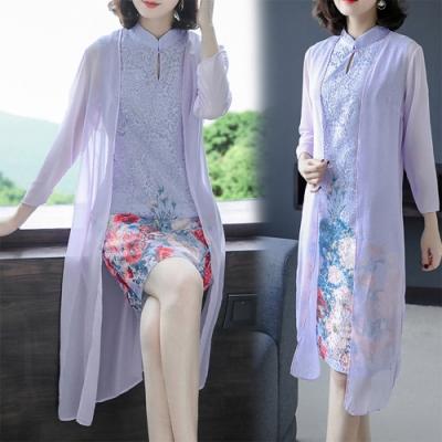 【韓國K.W.】(現貨)破盤價賣瘋了波濤花香修身蕾絲洋裝-1色
