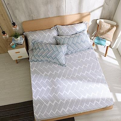 鴻宇 雙人加大床包枕套組 天絲300織 米克諾斯 台灣製