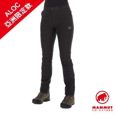 【Mammut 長毛象】Convey Pants Women 彈性防潑水長褲 黑色 女款 #1022-00381
