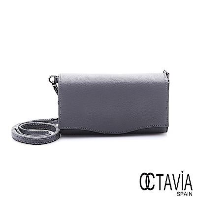 OCTAVIA 8真皮 - 獨立宣言 三折式牛皮隨身手拿小肩包 -負責灰