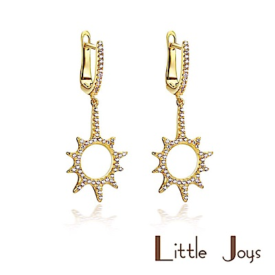 Little Joys 原創設計品牌 Sun Zircon 小太陽鋯石耳環 925銀鍍金