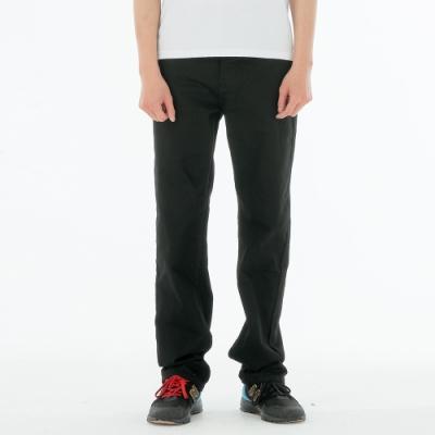 BIG TRAIN 黑色舒適高彈直筒褲-男-黑