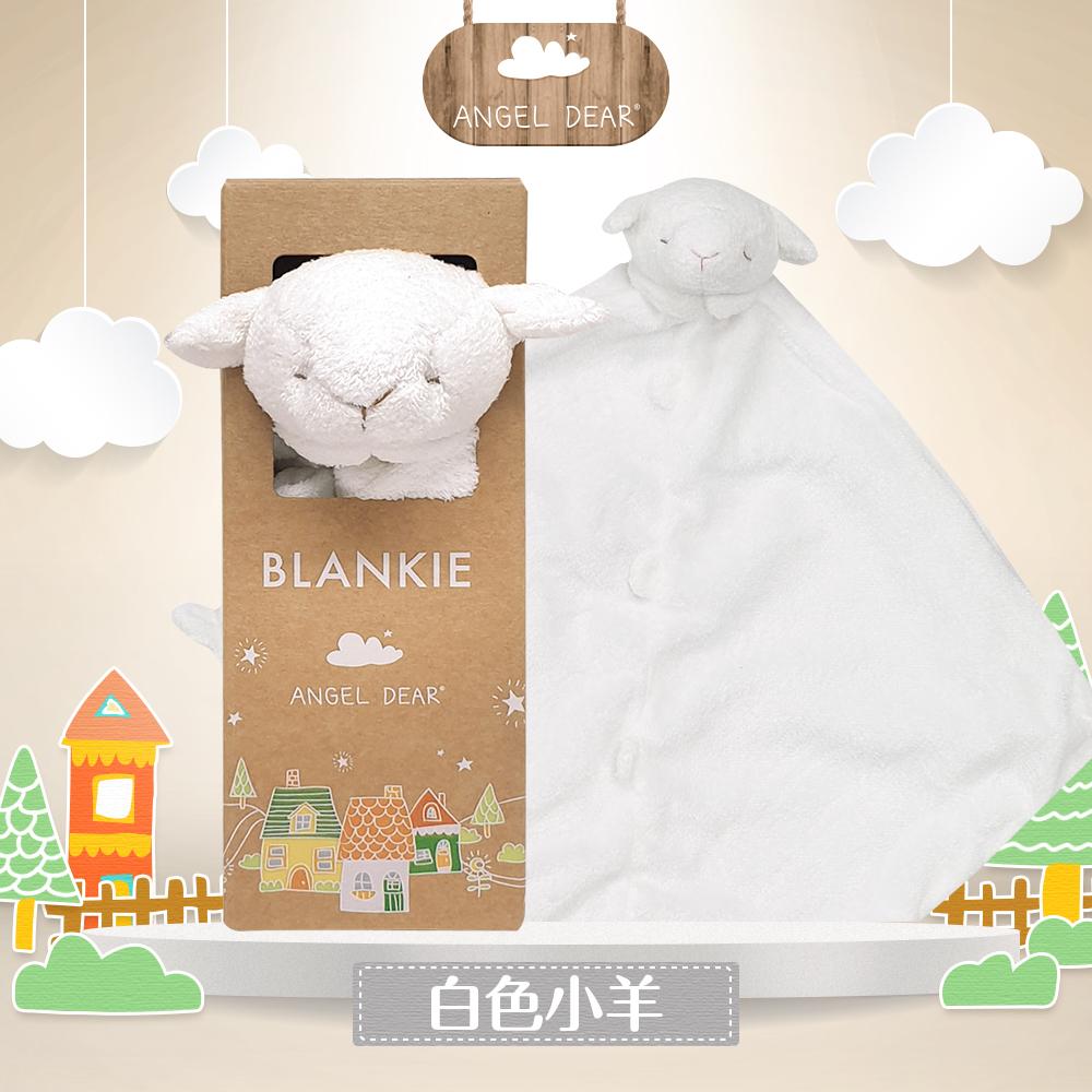 美國 Angel Dear 動物嬰兒安撫巾禮盒版 (白色小羊)