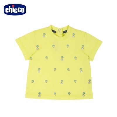 Chicco- 飛行浣熊-熱氣球印花短袖上衣
