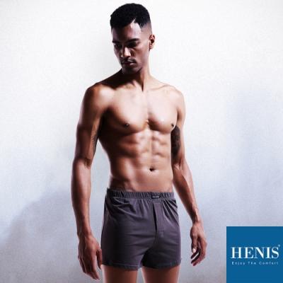 HENIS WILD狂野棉織內外兩穿 寬鬆四角褲 (灰)
