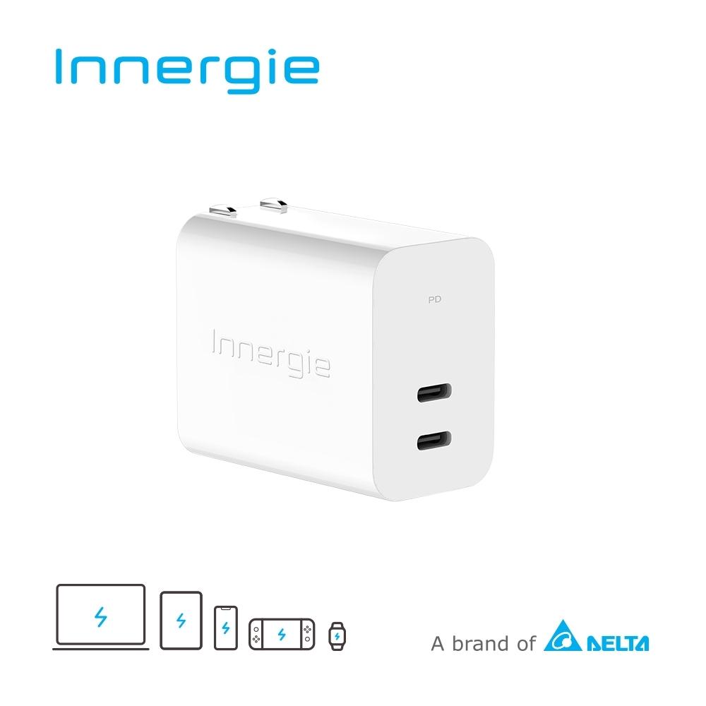 Innergie C6 Duo 63瓦 USB-C 雙孔萬用充電器 (摺疊版)