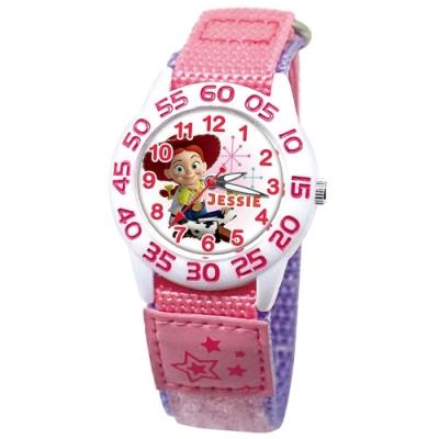 DISNEY迪士尼 Toy Story玩具總動員休閒織帶手錶 女牛仔翠絲33mm白殼