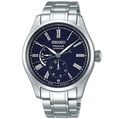 SEIKO 精工Presage儲存琺瑯機械錶-藍(SPB091J1/6R27-00L0B)