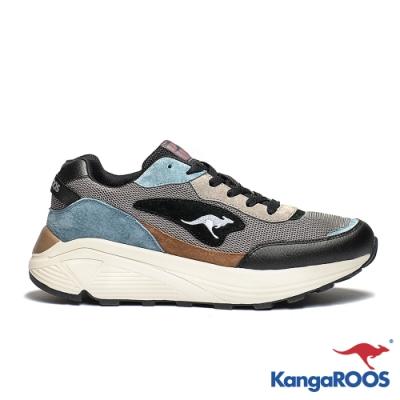 KANGAROOS 男 BLAZE 都會老爹鞋(藍黑)
