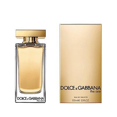 DOLCE & GABBANA D&G The One唯我女性淡香水100ml(贈隨機針管