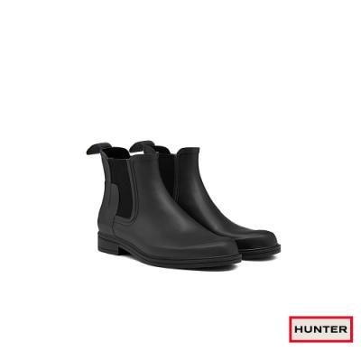 HUNTER - 男鞋 - Refined切爾西霧面踝靴 -黑