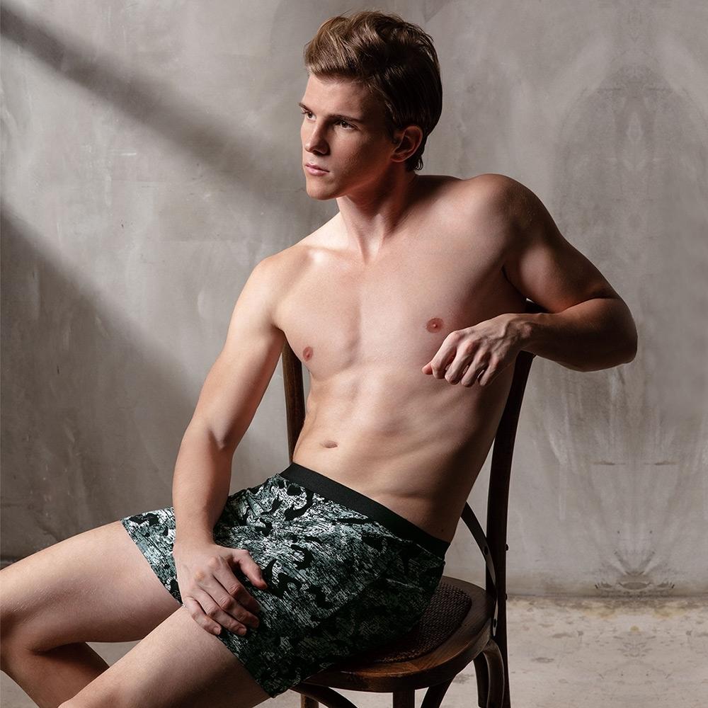 DAYNEER 寬鬆舒活系列-四角褲M11039 (迷彩綠)
