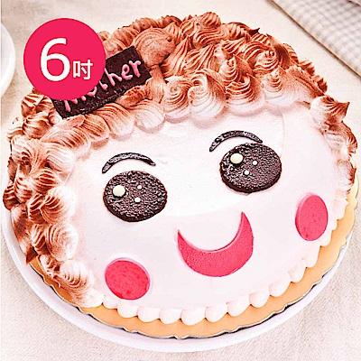 樂活e棧-父親節造型蛋糕-真愛媽咪蛋糕(6吋/顆,共1顆)