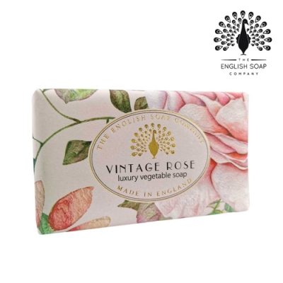 The English Soap Company 乳木果油復古香氛皂-玫瑰 Vintage Rose 190g