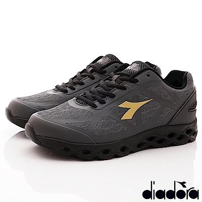 DIADORA-風動釋壓慢跑鞋款 SI928灰黑(男段)
