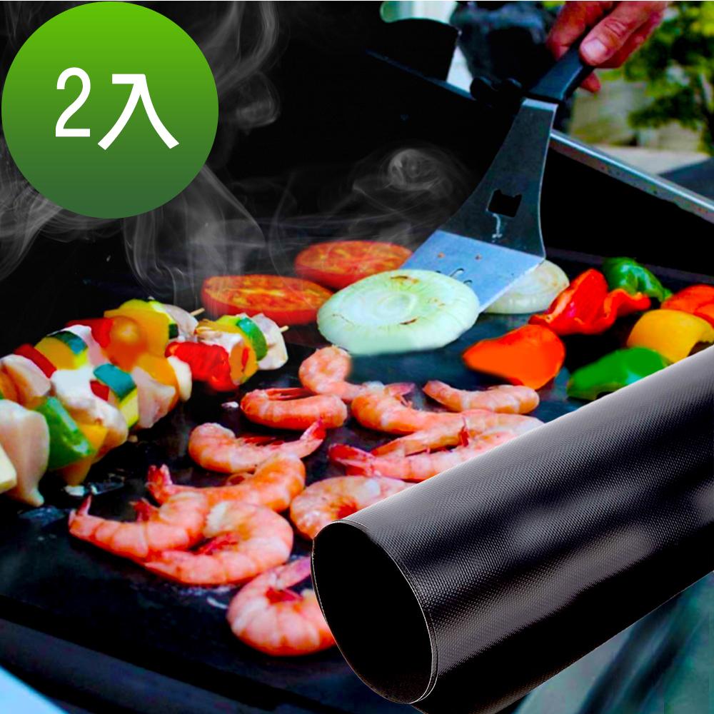 ENNE BBQ耐高溫不沾烤肉墊 薄黑色2片+彩盒 M