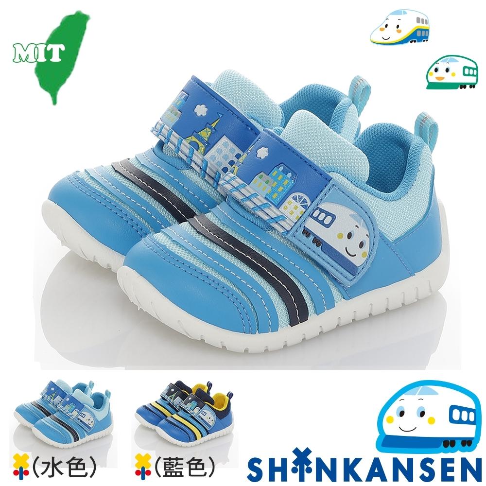 SANRIO三麗鷗新幹線 童鞋 輕量減壓抗菌防臭學步鞋-水.藍