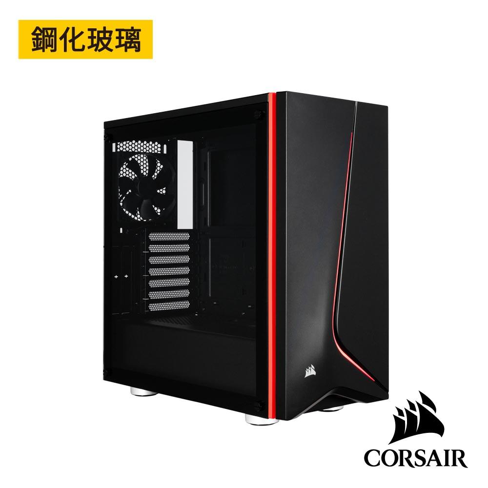 【CORSAIR海盜船】Carbide SPEC-06 鋼化玻璃中塔式機殼-黑
